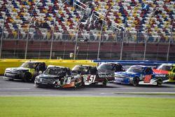 Johnny Sauter, GMS Racing, Chevrolet Silverado ISM Connect and Noah Gragson, Kyle Busch Motorsports, Toyota Tundra Safelite AutoGlass
