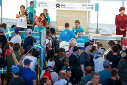 Autograph session begins inside Tempelhof Airport with Oliver Turvey, NIO Formula E Team, Luca Filippi, NIO Formula E Team