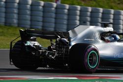 Valtteri Bottas, Mercedes-AMG F1 W09 met sensoren op de wagen