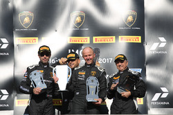 Podium Europe AM: first place Andrej Lewandowski, Teodor Myszkowski, VS Racing, second place Raffaele Giannoni, Automobile Tricolore, third place Massimo Mantovani, Imperiale Racing
