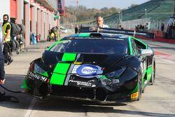 La voiture endommagée de #55 Dörr Motorsport: Jacobus Bartles