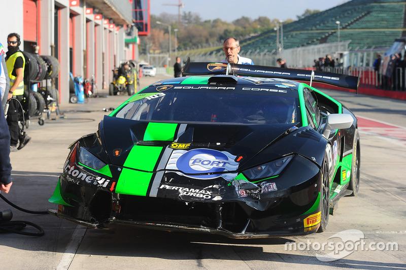 La vettura incidentata #55 Dörr Motorsport: Jacobus Bartles