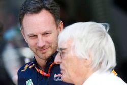 Christian Horner, director de Red Bull Racing, Bernie Ecclestone, Presidente Emérito de F1