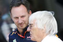 Christian Horner, Team Principal, Red Bull Racing, Bernie Ecclestone, Chairman Emeritus of Formula 1