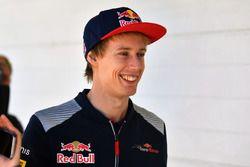 Brendon Hartley, Scuderia Toro Rosso lors de la parade des pilotes