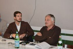 Alex Fontana e Giorgio Passera alla presentazione del libro