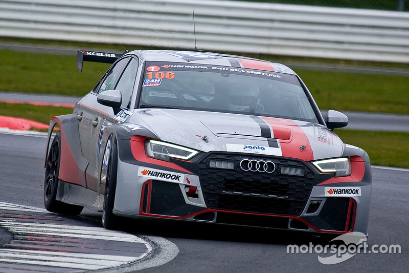 #106 Excelr8 Motorsport Audi RS3 LMS SEQ: David Marcussen, Akhil Rabindra, Sandy Mitchell, Stuart Hall, James kaye