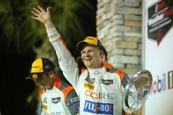 #54 CORE autosport ORECA LMP2, P: Jon Bennett, Colin Braun, Romain Dumas on the podium