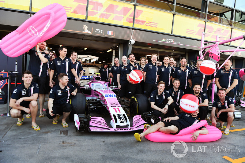 Команда Sahara Force India F1, презентация спонсора Havaianas