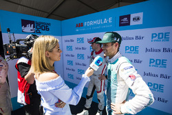 TV Presenter Nicki Shields, talks to Tom Blomqvist, Andretti Formula E Team