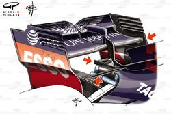 Red Bull RB14 rear wing detail