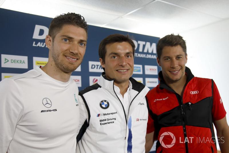 Прес-конференція, Едоардо Мортара, Mercedes-AMG Team HWA, Бруно Спенглер, BMW Team RBM, Лоік Дюваль, Audi Sport Team Phoenix