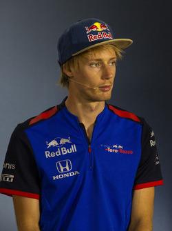 Pierre Gasly, Scuderia Toro Rosso, en conférence de presse