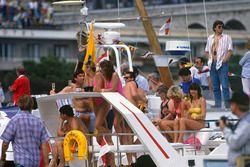 Spectators on a boat