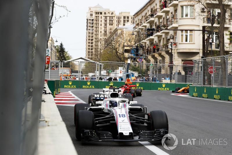 Lance Stroll, Williams FW41 Mercedes, Charles Leclerc, Sauber C37 Ferrari, Kimi Raikkonen, Ferrari SF71H