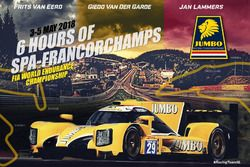 Racing Team Nederland banner voor de WEC 6 uur van Spa