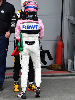 Sergio Perez, Force India in parc ferme