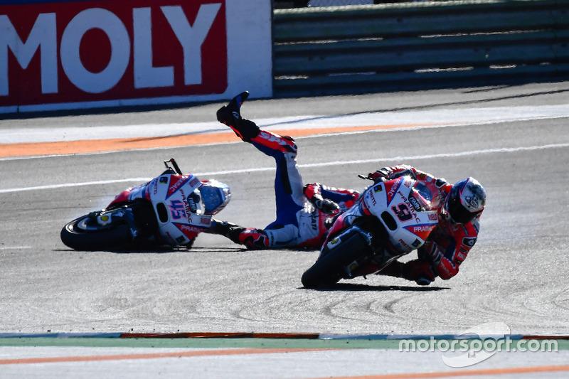 Danilo Petrucci, Pramac Racing, crash of Scott Redding, Pramac Racing