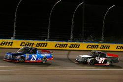 Chase Briscoe, Brad Keselowski Racing Ford and Jesse Little, JJL Motorsports Toyota Tundra