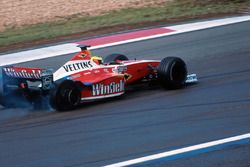 Puncture ends Ralf Schumacher, Williams FW21 quest for victory
