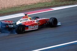 Una foratura infrange le chanche di vittoria di Ralf Schumacher, Williams FW21