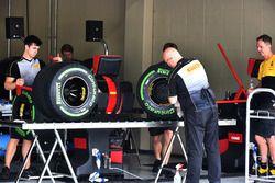 Area di preparazione degli pneumatici Pirelli
