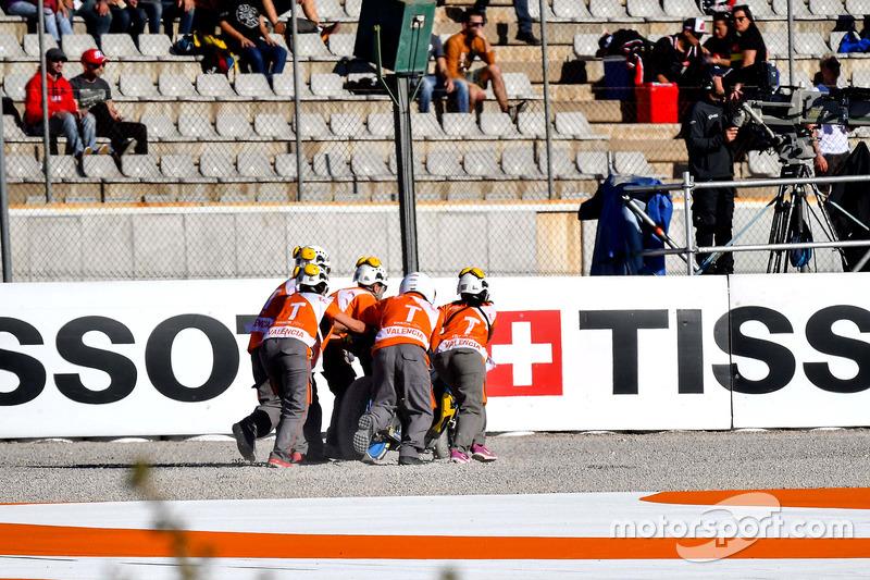 Crash, Tito Rabat, Estrella Galicia 0,0 Marc VDS