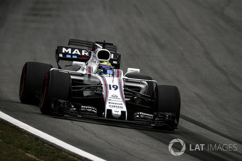 Mais corridas em que pontuou: Felipe Massa (165)