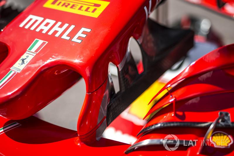 Ferrari SF71H detail van de neus