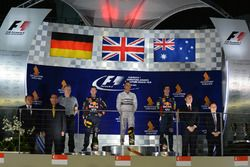 Podium: winner Lewis Hamilton, Mercedes AMG F1, second place Sebastian Vettel, Red Bull Racing, third place Daniel Ricciardo, Red Bull Racing