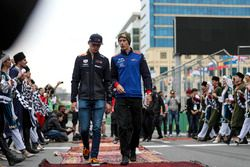 Max Verstappen, Red Bull Racing y Brendon Hartley, Scuderia Toro Rosso