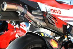 Andrea Dovizioso, Ducati Team, exhaust