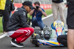 Lewis Hamilton, Mercedes-AMG F1 with the RACC Cadet Karters