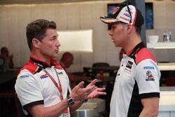 Lucio Cecchinello Team LCR Honda Director; Takaaki Nakagami, Team LCR Honda