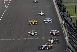 Alexander Rossi, Andretti Autosport Honda, James Hinchcliffe, Schmidt Peterson Motorsports Honda, Helio Castroneves, Tony Kanaan, A.J. Foyt Enterprises Chevrolet
