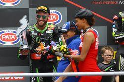 Podium: tweede Tom Sykes, Kawasaki Racing