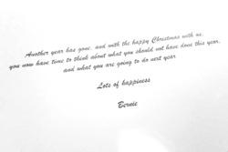 Postal de Navidad de Bernie Ecclestone