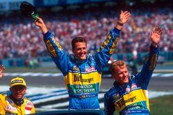 Michael Schumacher, Benetton, Johnny Herbert ve Roberto Moreno, Forti