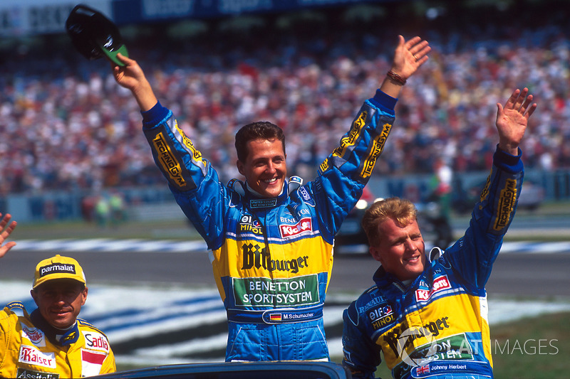 Michael Schumacher, Benetton, Johnny Herbert ve Roberto Moreno, Forti