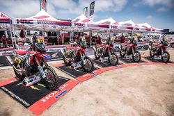 All bikes of the Monster Energy Honda Team