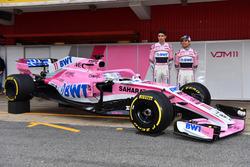 Sergio Perez, Sahara Force India F1 and Esteban Ocon, Sahara Force India F1, the new Sahara Force In