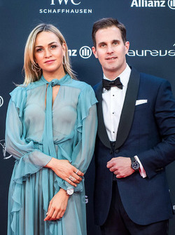 Carmen Jorda and Christoph Grainger-Herr, CEO of IWC Schaffhausen