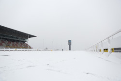 Snow on the track