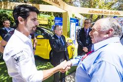 Jean Todt presidente de la FIA en el stand de e-Village, con José María López, Dragon Racing. & Lucas di Grassi, Audi Sport ABT Schaeffler