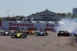 Sébastien Bourdais, Dale Coyne Racing with Vasser-Sullivan Honda, Robert Wickens, Schmidt Peterson M