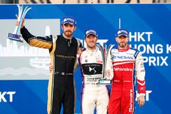 Podium: race winner, Sam Bird, DS Virgin Racing, second place Jean-Eric Vergne, Techeetah, third pla