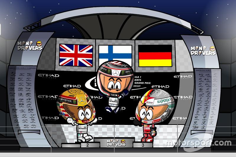 El GP de Abu Dhabi 2017 de F1 según Los MiniDrivers