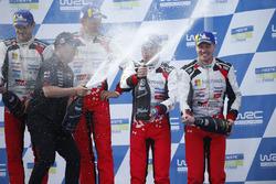Winners Ott Tanak, Martin Järveoja, Toyota Yaris WRC, Toyota Gazoo Racing, third place Toyota Yaris WRC, Toyota Gazoo Racing