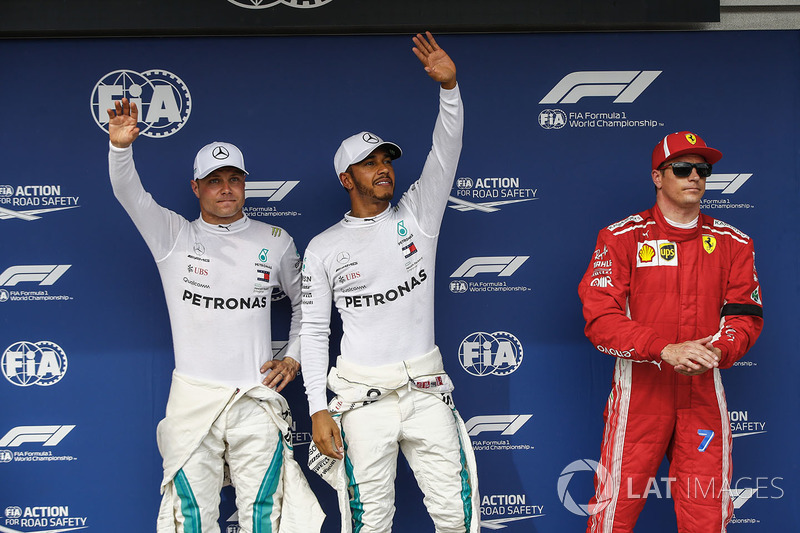 Valtteri Bottas, Mercedes AMG F1, Lewis Hamilton, Mercedes AMG F1 y Kimi Raikkonen, Ferrari