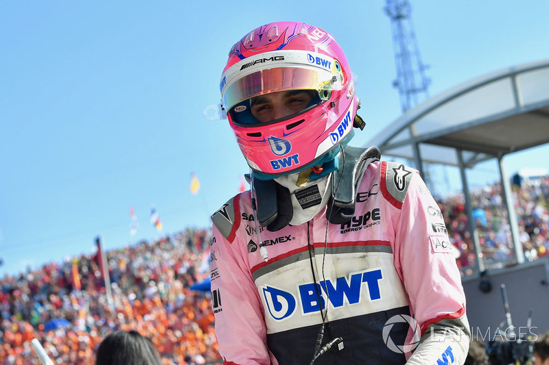 Esteban Ocon, Force India F1 en parc ferme